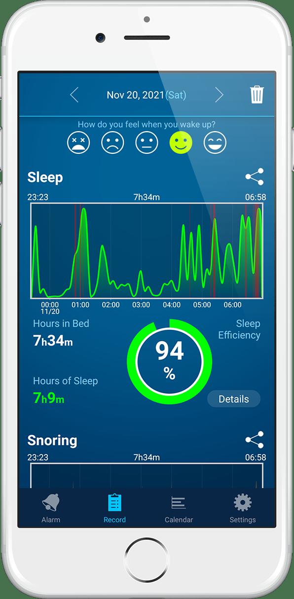 睡眠が見える目覚ましアプリ